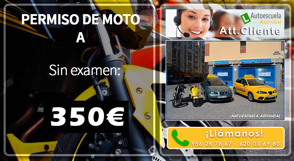 Ofertón Permiso Moto A 350€