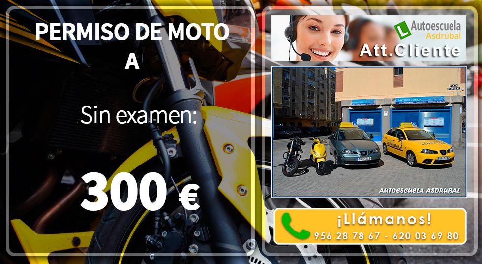 Ofertón Permiso Moto A 300€